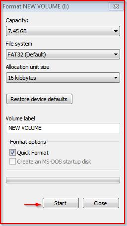 Formal USB Drive